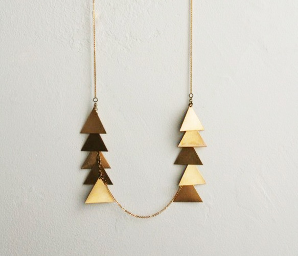 Laura Lombardi Jewelry, Scale Necklace, $54