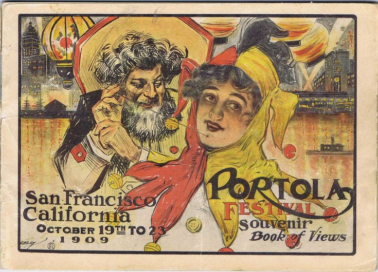 The San Francisco Portola Festival was held October 19 - 23, 1909. It honored Don Gaspar de Portola, the discoverer of San Francisco Bay. It also was a celebration of a city, just three years earlier, lay in ruins. The festival ran each year until 1913.