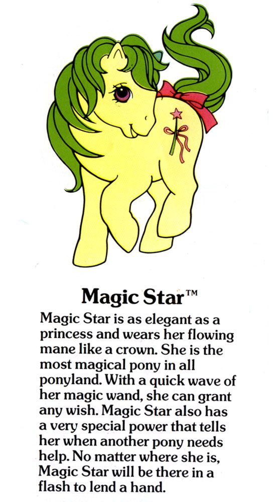 My Little Pony Magic Star fact file ... - Magic Star was the pony I played at recess back in kindergarten when I led the Pony Gang