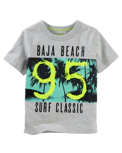 Toddler Boy Heather Surf Tee from OshKosh B'gosh. Shop clothing & accessories from a trusted name in kids, toddlers, and baby clothes.