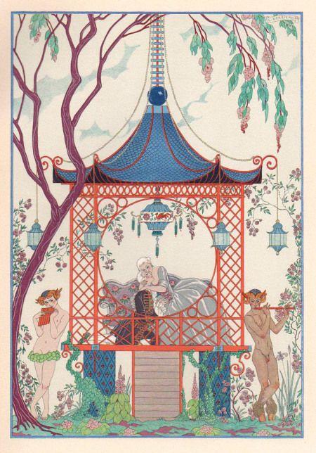 illustration française : Les Fêtes Galantes de Paul Verlaine, George Barbier…