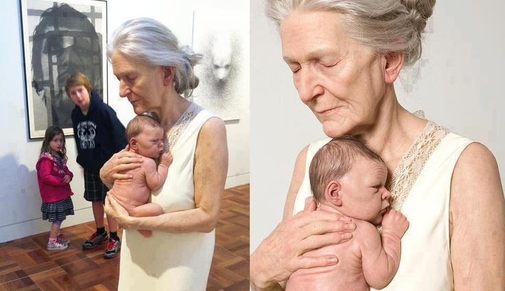Artist Sam Jinks. Born 1973 - lives & works in Melbourne, Austria. This is life size wax sculpture.