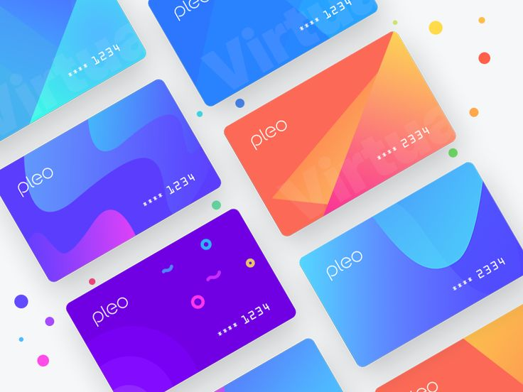 Worked some weeks ago on some patterns and combinations for virtual cards. Virtual card is use for online purchasing.