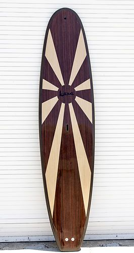 "New Kana 11'0"" ""California"" Wood Veneer Epoxy Stand Up Paddle Board SUP"