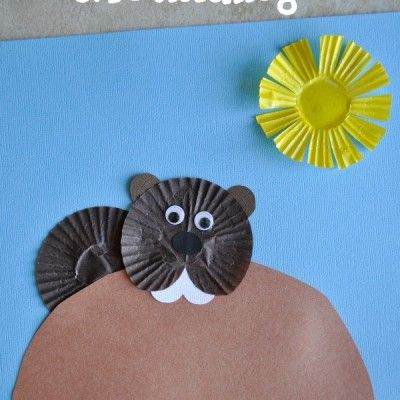 Cupcake Liner Groundhog Day Craft