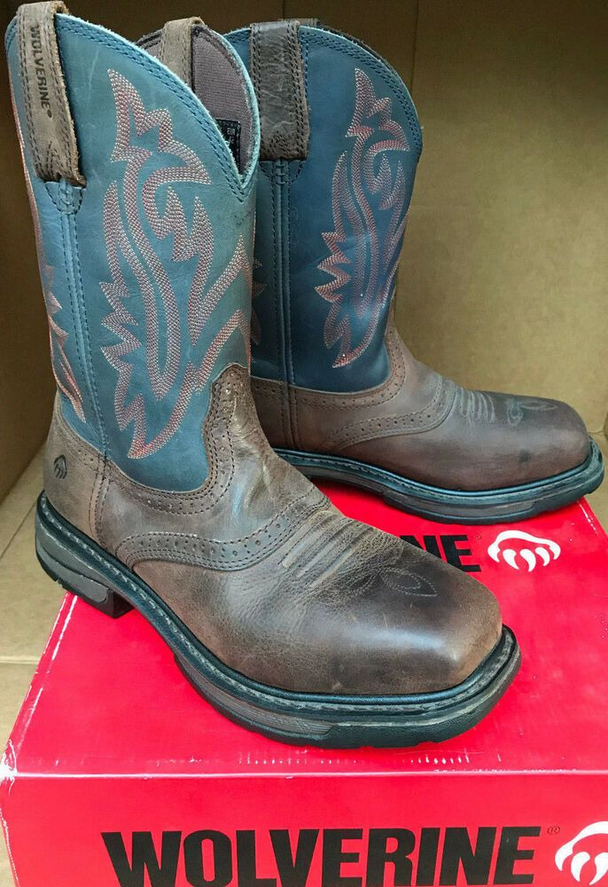 "Wolverine Javelina Pull On 10/"" Steel Toe W10244 Men/'s Work Boots-FREE SHIPPING"