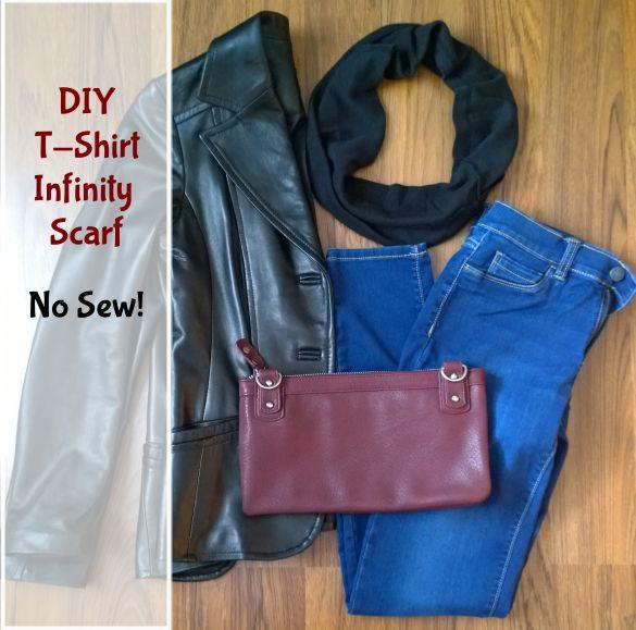 DIY T-Shirt Infinity Scarf No Sew