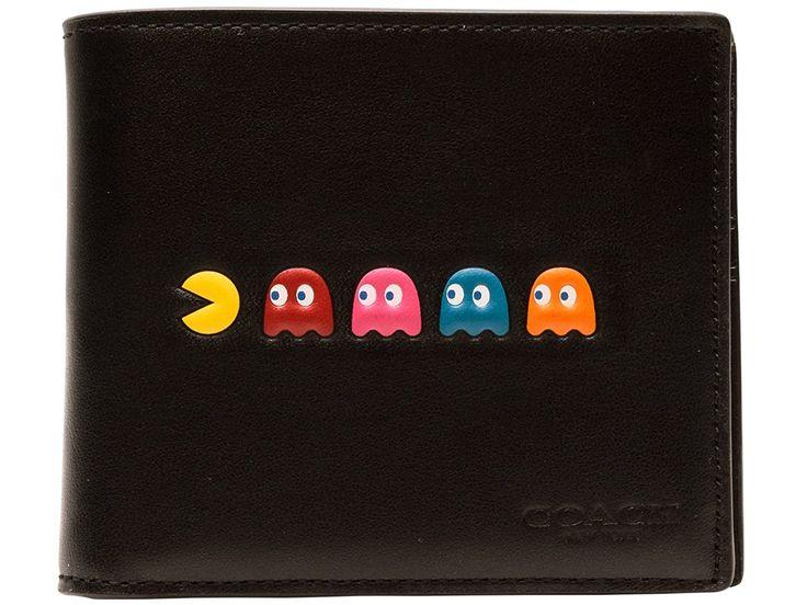 Amazon   (コーチ) COACH 財布 札入れ 二つ折り パックマン パスケース付 メンズ ブラック レザー f56054blk アウトレット ブランド [並行輸入品]   財布