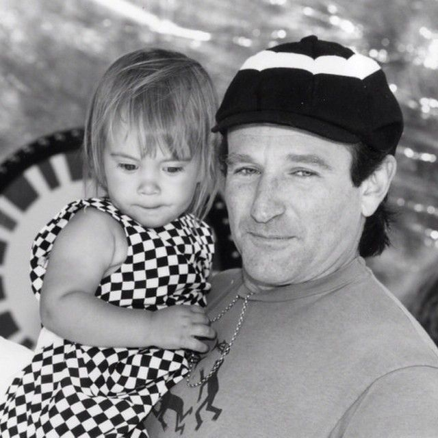 Robin Williams with his daughter, Zelda Rae.
