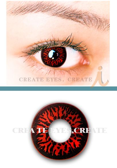 Red Wolf Eyes Crazy Contact Lens (pair) [REDWOLF] - US$24.99 : ColorLens4Less.com, Color Contact Lens,Crazy Contact Lens,Halloween Contact Lens