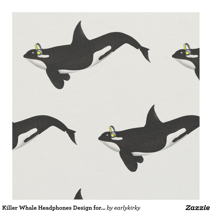 Killer Whale Headphones Design for Music Lovers Fabric