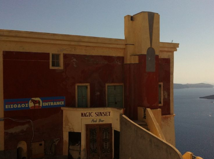 Abandoned hotel in Kaldera . Great mystery ???? Santorini