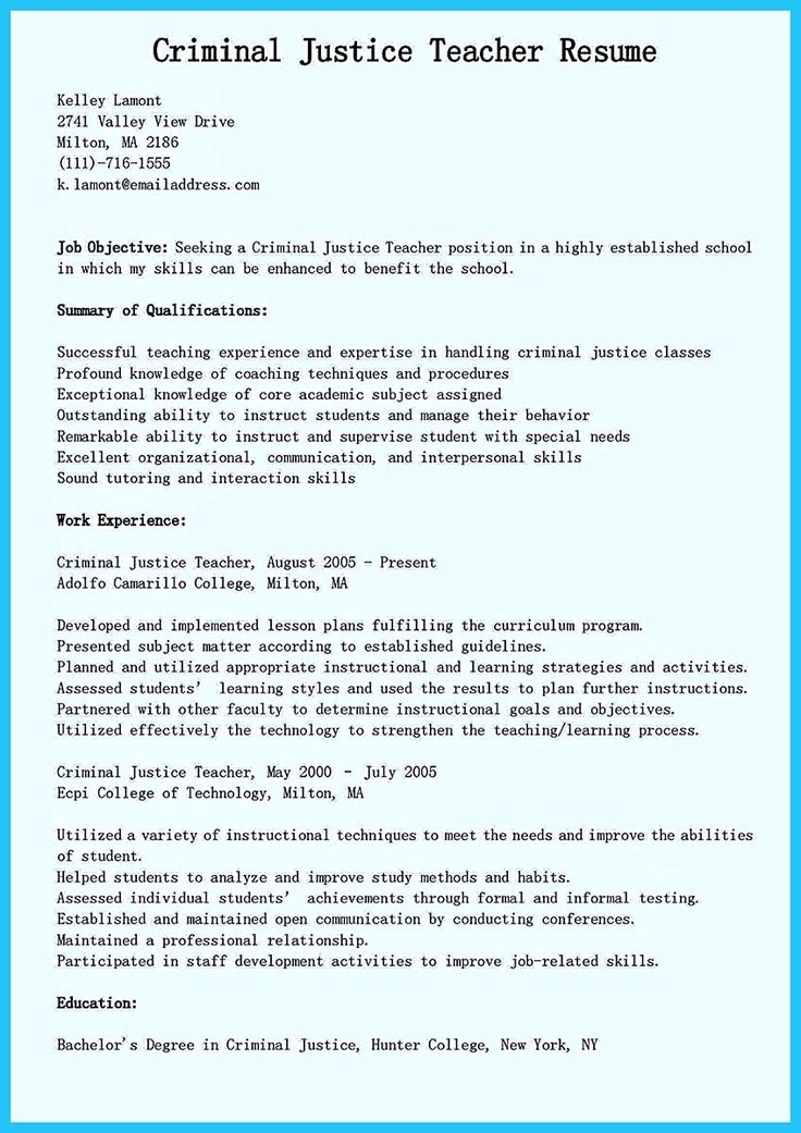 nice Best Criminal Justice Resume Collection from
