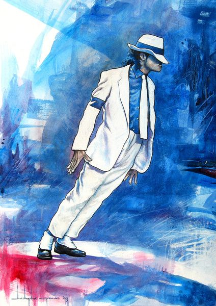 Smooth Criminal (Michael Jackson) Art Print Blood on the Dance Floor
