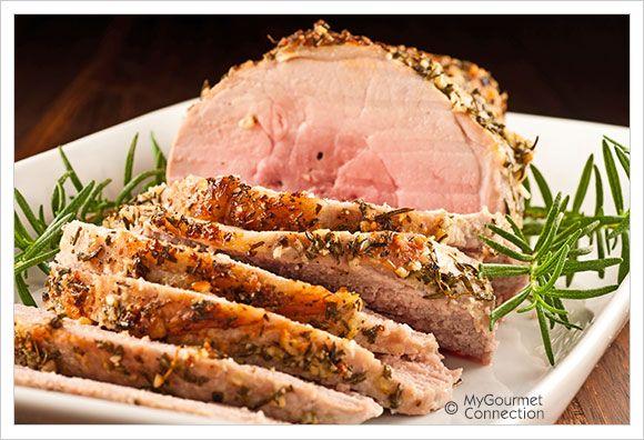 Garlic-Herb Crusted Boneless Pork Sirloin Roast | MyGourmetConnection