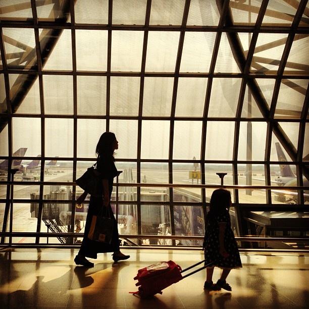 Departure suvarnabhumi airport BKK, celine har faktisk vært her, oh yes