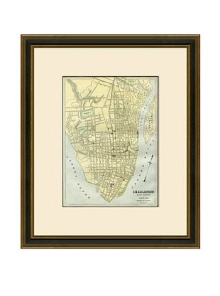 50% OFF Antique Lithographic Map of Charleston, 1883-1903