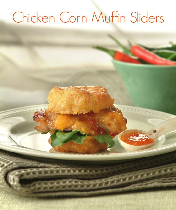 Marinated Chicken Breasts with Corn Muffin Slider Buns - why haven't you used a corn muffin as a bun before?