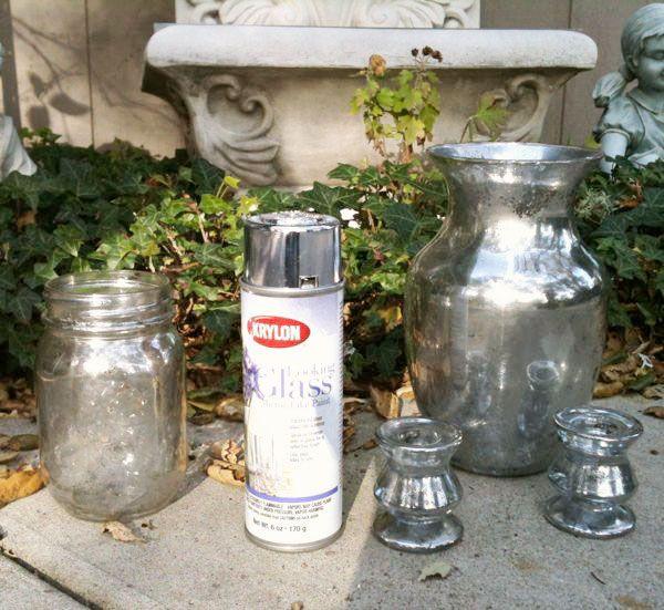 DIY Mercury Vases. I am so doing this next week-end: Glasses Families, Mercury Glasses, Diy'S Mercury, Katy Roses, Glasses Paintings, Diy'S Crafts, Roses Cottages, Glasses Tutorials, Sprays Paintings