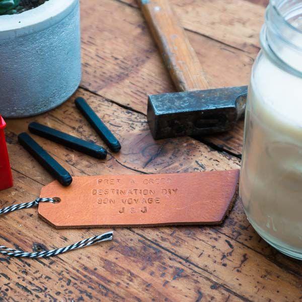 Le kit déco des étiquettes en cuir par Prêt-à-créer