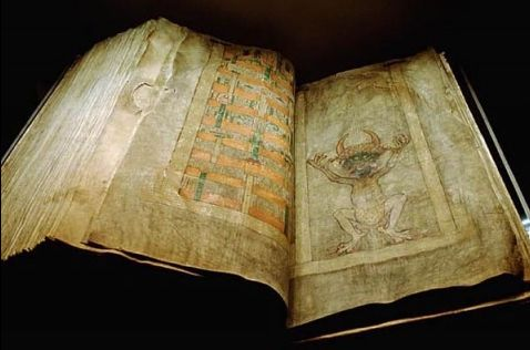 Ancient Books: The Devils Bible or the Codas Gigas, used in ARKANE thriller Prophecy