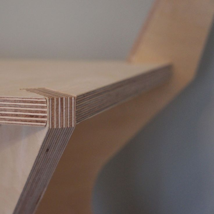 low back day chair - detail - birch plywood furniture - flatpack - nomadic design studio  - handmade