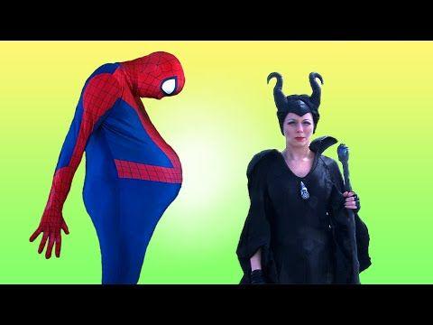 PINK SPIDERGIRL BECOMES MERMAID! w/ Frozen Elsa, Spiderman vs Joker! Superhero Fun in Real Life - YouTube