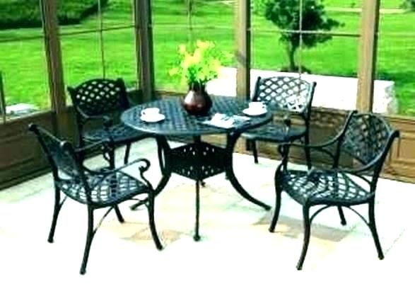 Black Wrought Iron Patio Furniture Patio Dining Table