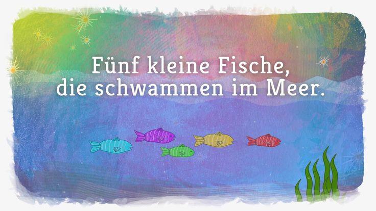 Fünf kleine Fische - Lichterkinder | Kinderlieder | Bewegungs - und Late...