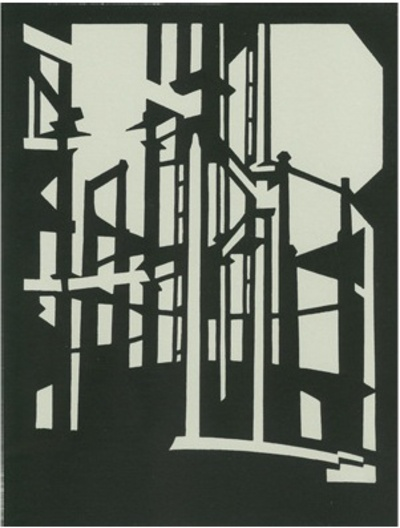 Paul Catherall linocut available from Castor & Pollux gallery in Brighton