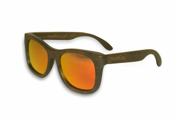 Madfas gafas en madera CIRRUS – Oscuro / Lente Fuego