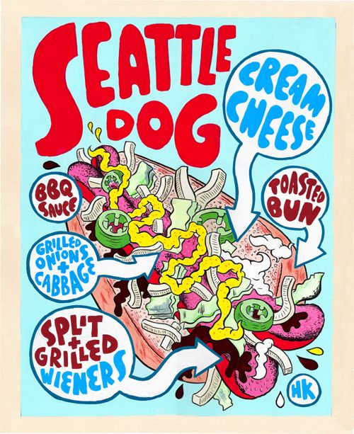 Have to try a Seattle Dog when we go to the Mariner's game.  If you can't find one you can get one @ Po Dog.