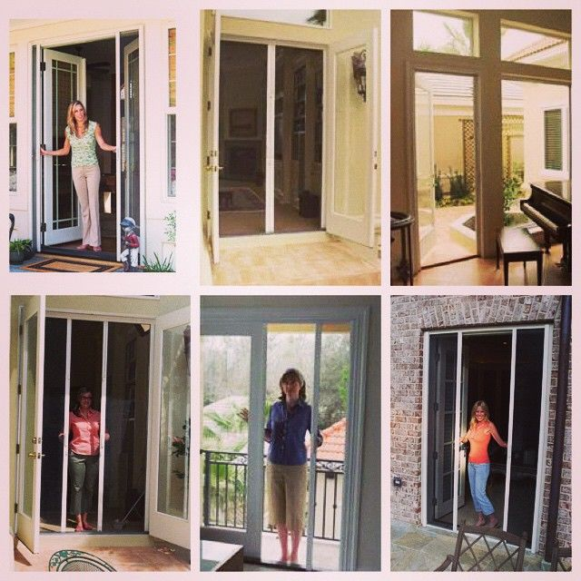 Superior Retractable Screens Hide Away In Small Cassette Housing Out Of The Way.  Call Palmetto Outdoor