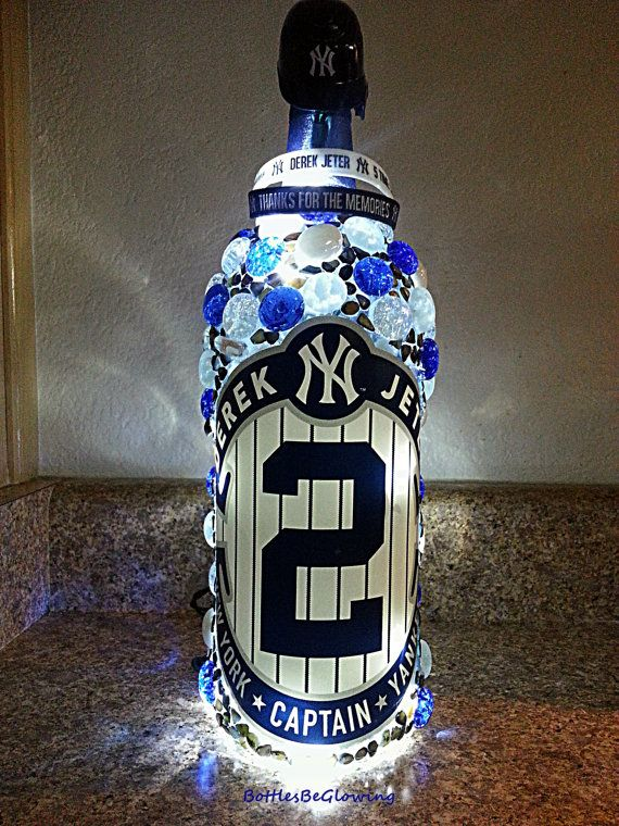 Derek Jeter Captain New York Yankees Farewell by BottlesBeGlowing, $40.00