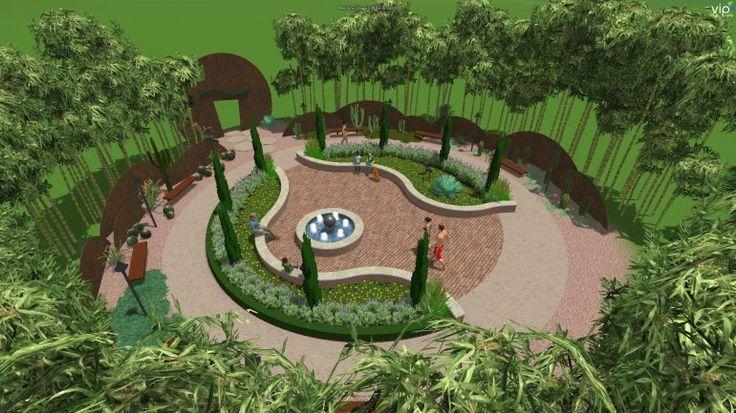 Cheap A Modern Park D Garden Landscape Design Structure Studios Vipd Designs
