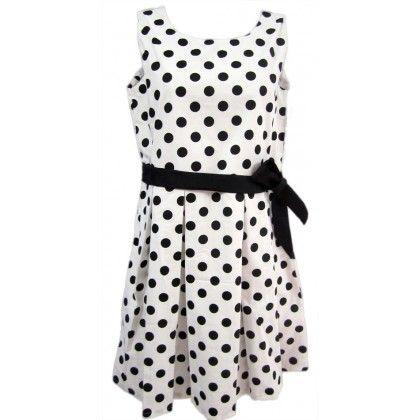 Naritva Black Polka Dots Dress