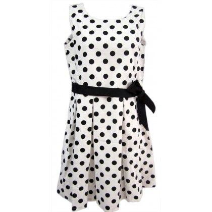 Naritva Black Polka Dots Dress