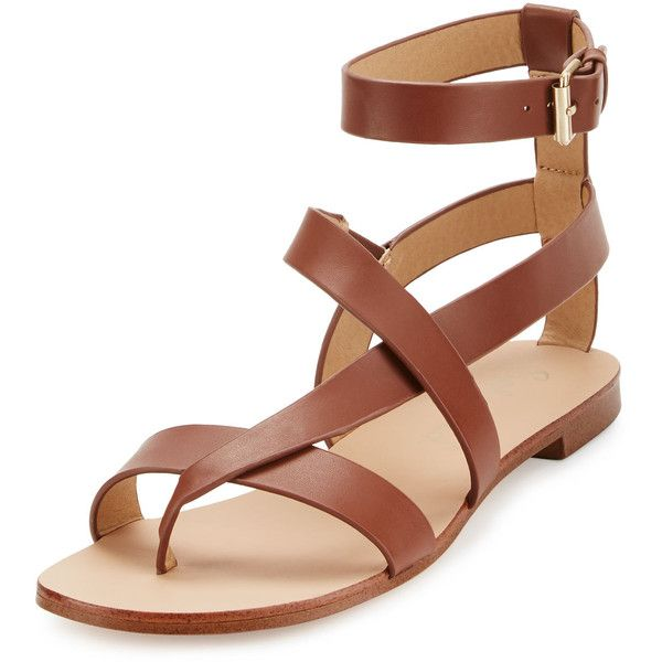 Splendid Crete Leather T-Strap Sandal ($49) ❤ liked on Polyvore featuring shoes, sandals, ankle tie sandals, cognac high heel sandals, high heel shoes, ankle wrap sandals and splendid shoes