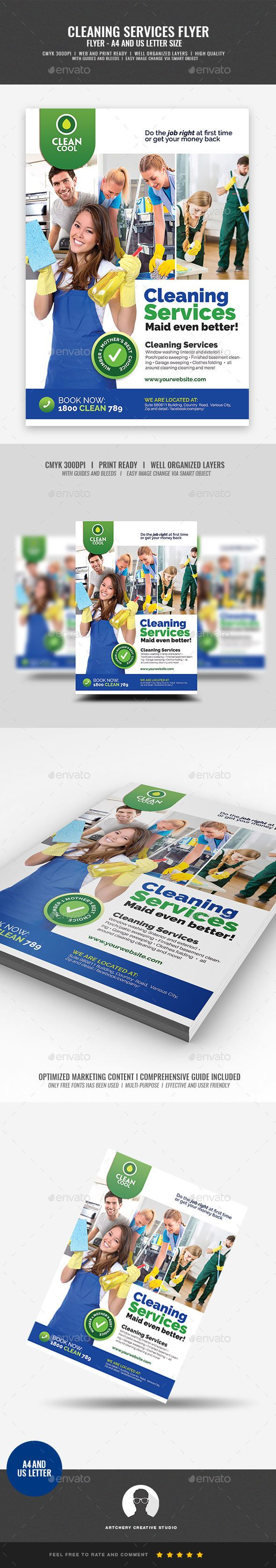 Household Cleaning Service Company Flyer #clean #advertising  • Download here → https://graphicriver.net/item/household-cleaning-service-company-flyer/21263826?ref=pxcr