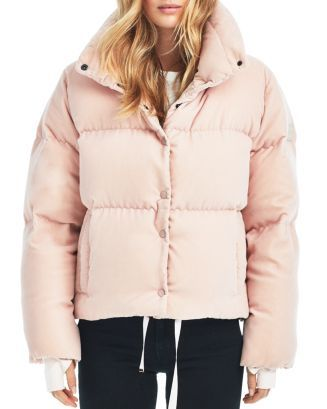 dda80ef5cca Sophia Velvet Puffer Coat