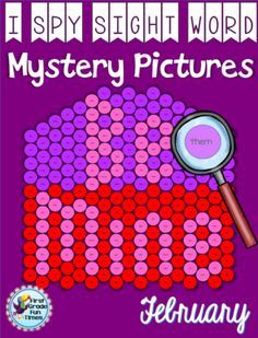 First Grade Fun Times  from  Valentine I - Spy Sight Word Mystery Pictures on TeachersNotebook.com -  (14 pages) - Have students use magnifying glasses (I got mine from the Dollar Tree in the party favors section) to read the sight words and color by the code.