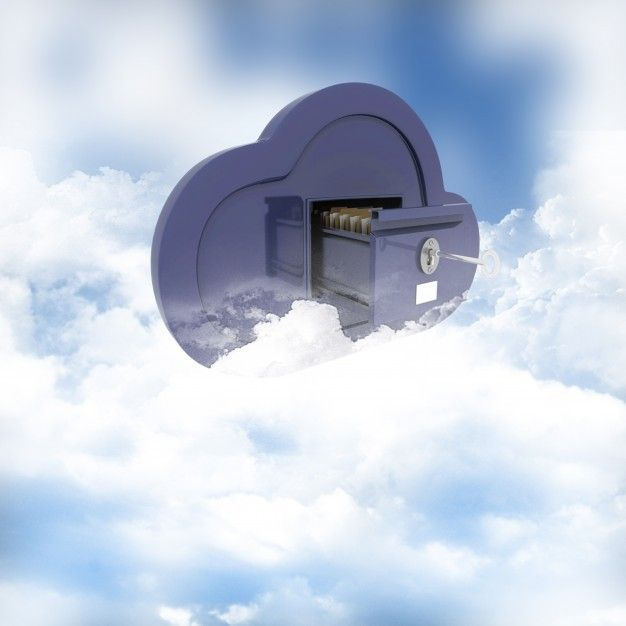 3d render of a concept of online storage in the clouds Free Photo