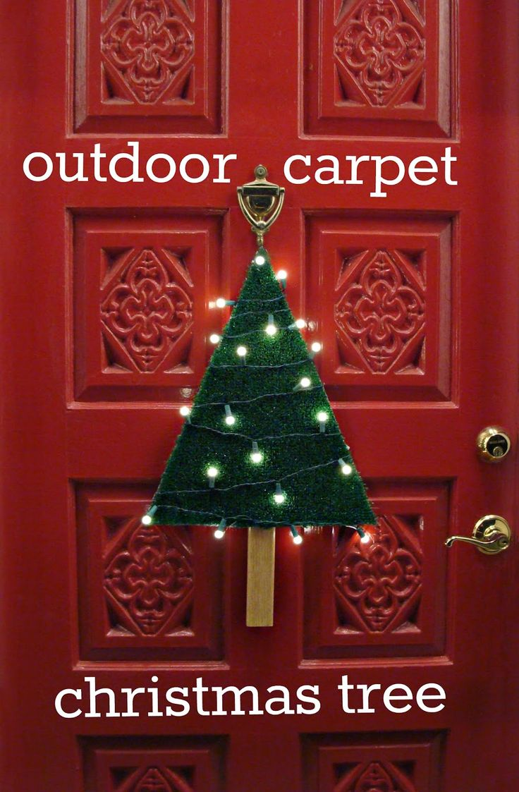 very heatherly cheap tricks for chic chicks: outdoor carpet christmas tree...