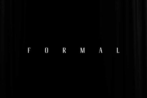 Formal Inline Free Typeface is a typeface that is coming for the in store signage and branding of a tuxedo store. A fine