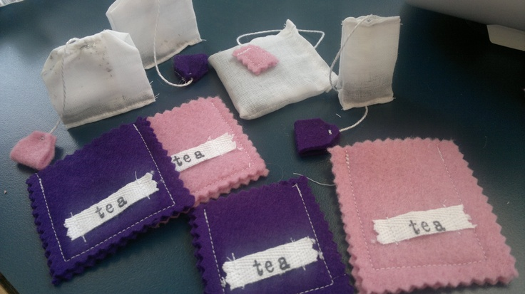 Tea bags for my girls - inspired by http://www.lilblueboo.com/2012/04/play-food-tea-box-and-tea-bags.html