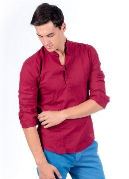 Yazlık Yeni Sezon Haki Yaka Erkek Gömlek