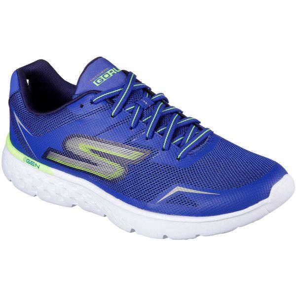 Skechers Men's Skechers Gorun - Disperse Blue 7.5 - Skechers... ($65) ❤ liked on Polyvore featuring men's fashion, men's shoes, men's sneakers, blue, mens blue sneakers, mens shoes, mens lightweight running shoes, mens blue shoes and mens breathable shoes