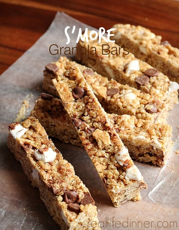 Homemade S'more Granola Bars...best granola bars I have EVER made! | reallifedinner.com