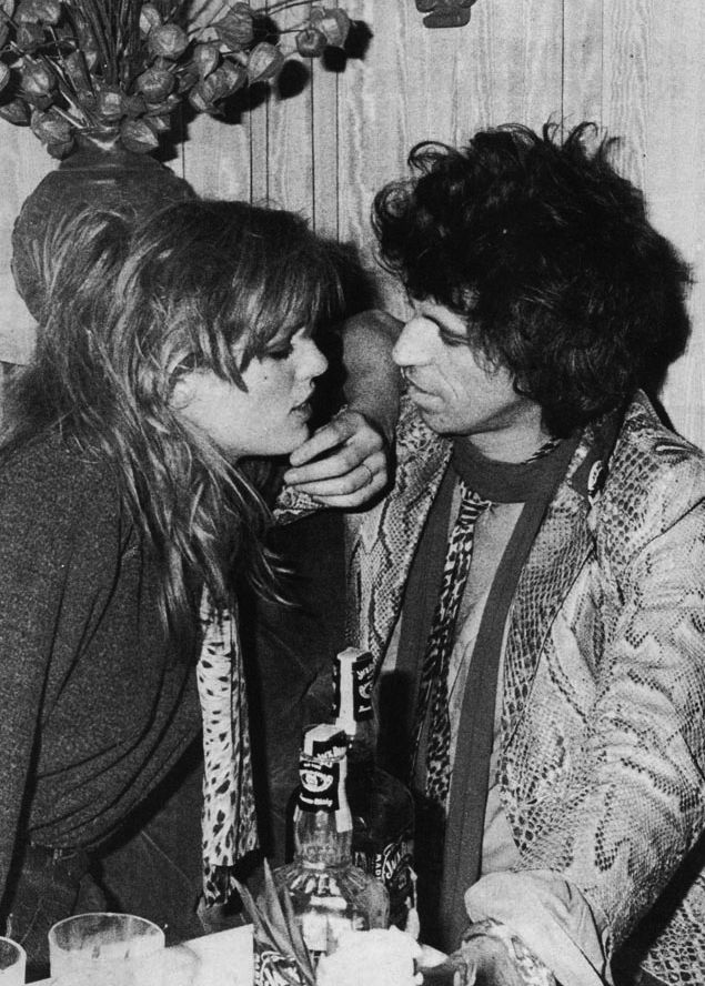 Patti Hansen and Keith Richards