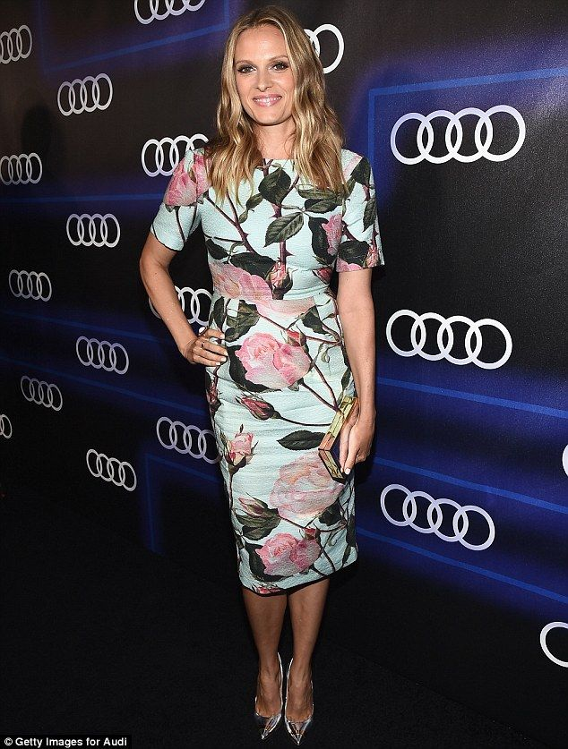 Everything's rosy: Vinessa Shaw was radiant in a rose-patterned frock...